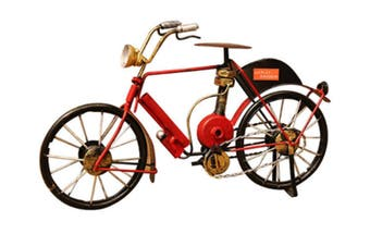 WJS Modern Iron Bicycle Model Creative Home Decoration Decoration Suitable for Bedroom Living Room Office