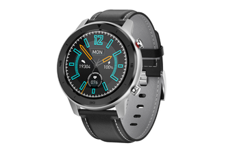 WJS 1.3 Inch Color Screen Full-touch Bluetooth Watch Waterproof Multi-sport Mode Watch Can Measure Heart Rate and Blood Pressure-Black Grey