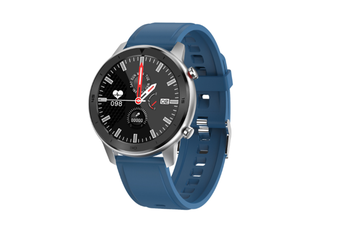 WJS 1.3 Inch Color Screen Full-touch Bluetooth Watch Waterproof Multi-sport Mode Watch Can Measure Heart Rate and Blood Pressure-Blue