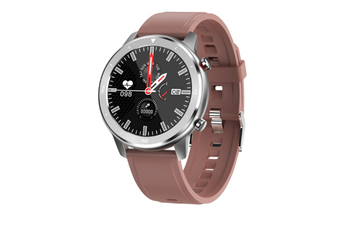 WJS 1.3 Inch Color Screen Full-touch Bluetooth Watch Waterproof Multi-sport Mode Watch Can Measure Heart Rate and Blood Pressure-Brown
