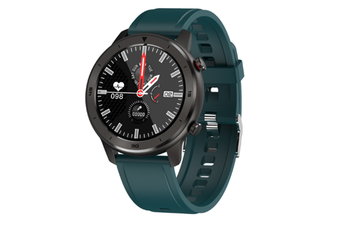 WJS 1.3 Inch Color Screen Full-touch Bluetooth Watch Waterproof Multi-sport Mode Watch Can Measure Heart Rate and Blood Pressure-Green