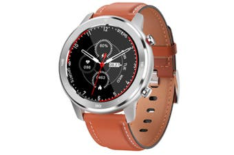 WJS 1.3 Inch Color Screen Full-touch Bluetooth Watch Waterproof Multi-sport Mode Watch Can Measure Heart Rate and Blood Pressure-Orange