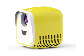 WJS Projection Mini Projector Portable Home Kid LED Projector Supports HD 1080P
