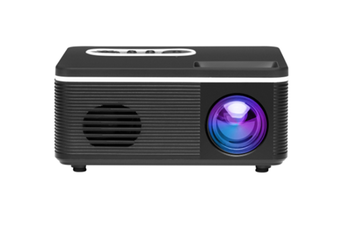 WJS Mini Portable Entertainment LED Projector Home Multi-function Interface HD Projector Supports 1080P-Black