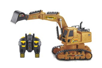 WJS 2.4G Wireless Remote Control Excavator 10 Channel Rechargeable Bulldozer Engineering Toy