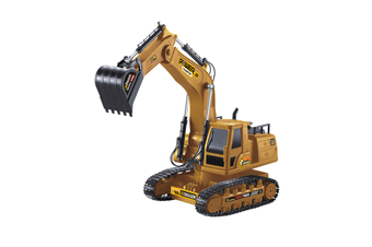 WJS 2.4G Wireless Remote Control Engineering Vehicle 10-channel Remote Control Excavator Simulation Bulldozer Model Toy