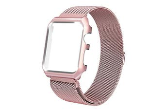 Watch Band Wrist Band With Metal Protective Case For Apple Watch Series 3 Series 2 Series 1 Pink 42Mm