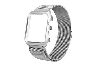 Watch Band Wrist Band With Metal Protective Case For Apple Watch Series 3 Series 2 Series 1 Silver 42Mm