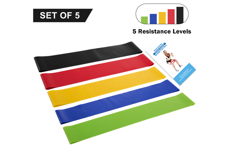Resistance Loop Bands Set Best For Stretching Physical Therapy Yoga And Fitness