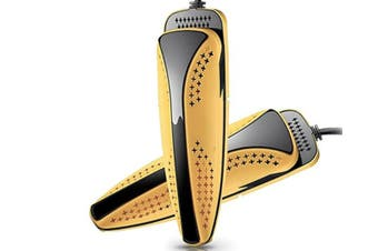 Shoes Dryer Warm Heater Dehumidify Sterilize Deodorizer Disinfector Ultraviolet Yellow