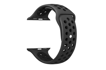 Soft Silicone Replacement Band For Apple Watch Series 3, Series 2, Series 1, Sport , Edition Black Black 42Mm