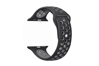 Soft Silicone Replacement Band For Apple Watch Series 3, Series 2, Series 1, Sport , Edition Black Gray 42Mm