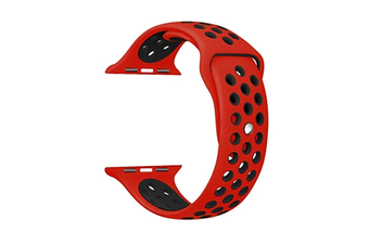 Soft Silicone Replacement Band For Apple Watch Series 3, Series 2, Series 1, Sport , Edition Red Black 42Mm