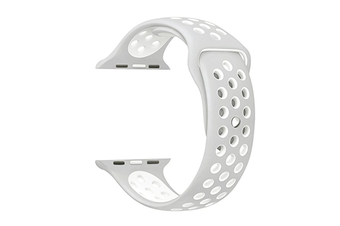 Soft Silicone Replacement Band For Apple Watch Series 3, Series 2, Series 1, Sport , Edition Silver White 42Mm