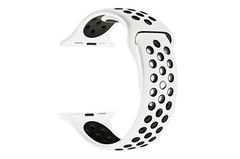 Soft Silicone Replacement Band For Apple Watch Series 3, Series 2, Series 1, Sport , Edition White Black 42Mm