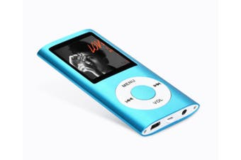 Fashion Portable 4 Generation Classic Mp4 Mini Screen Support TF Card Portable Digital Music Player Blue