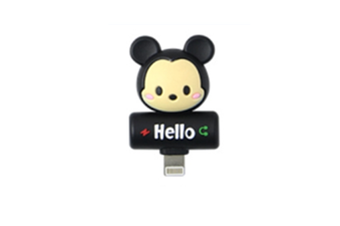 Cartoon Audio Charging 2-In-1 Adapter For Iphone - 5