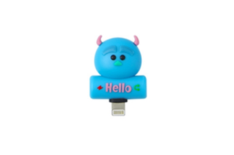Cartoon Audio Charging 2-In-1 Adapter For Iphone - 7
