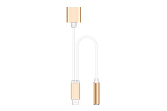 Adapter For Iphone Mobile Phone Conversion Head 3.5Mm Audio Cable Gold