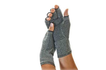 Rehabilitation Bumps Training Nursing Grip Gloves Open Finger L