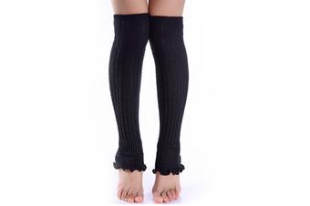 Winter Fluffy Warm Thick Cable Knit Long Leg Boot Socks Soft Leggings For Women