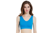 12 Colors Women Workout And Gym Seamless Yoga Sports Bra Blue M