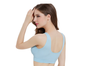 12 Colors Women Workout And Gym Seamless Yoga Sports Bra Light Blue Xxxl