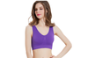 12 Colors Women Workout And Gym Seamless Yoga Sports Bra Purple L