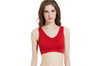 12 Colors Women Workout And Gym Seamless Yoga Sports Bra Red M