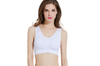 12 Colors Women Workout And Gym Seamless Yoga Sports Bra White L