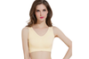12 Colors Women Workout And Gym Seamless Yoga Sports Bra Yellow L