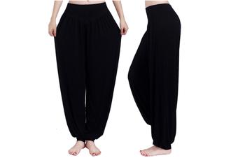 Womens Modal Cotton Soft Yoga Sports Dance Harem Pants Black M