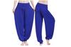 Womens Modal Cotton Soft Yoga Sports Dance Harem Pants Blue S