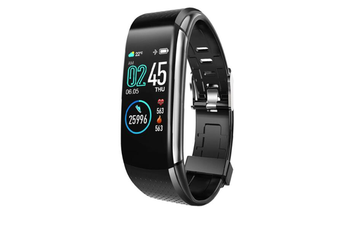 WJS 1.08inch Color Screen Blood Pressure Heart Rate Monitor Sport Bluetooth Smart Wristband Watch-BLACK