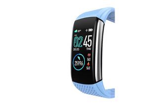 WJS 1.08inch Color Screen Blood Pressure Heart Rate Monitor Sport Bluetooth Smart Wristband Watch-BLUE
