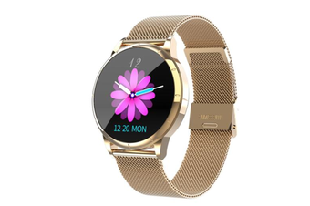 WJS Wallpaper Change Color Display Wristband Heart Rate Blood Pressure Female Period Monitor Smart Watch-B