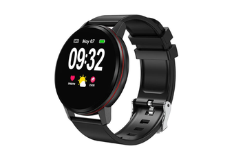 WJS 1.22inch Color Screen Blood Pressure Heart Rate Monitor Sport bluetooth Smart Wristband Watch-BLACK