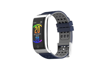 WJS 0.96inch Color Screen Blood Pressure Heart Rate Monitor Sport bluetooth Smart Wristband Watch-GREY