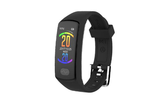 WJS 0.96inch Color Screen Blood Pressure Heart Rate Monitor Sport bluetooth Smart Wristband Watch-BLACK