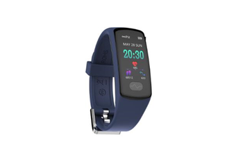 WJS 0.96inch Color Screen Blood Pressure Heart Rate Monitor Sport bluetooth Smart Wristband Watch-BLUE