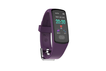 WJS 0.96inch Color Screen Blood Pressure Heart Rate Monitor Sport bluetooth Smart Wristband Watch-PURPLE