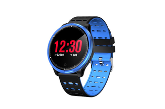 WJS 1.22inch Color Screen Blood Pressure Heart Rate Monitor Sport bluetooth Smart Wristband Watch-BLUE