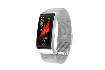 WJS 0.96inch Color Screen Blood Pressure Heart Rate Monitor Sport bluetooth Smart Wristband Watch-SILVER
