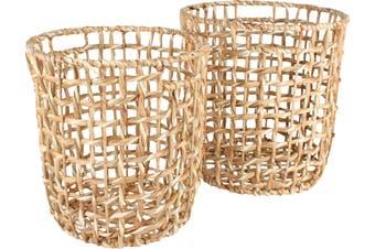 Bento Water Hyacinth Baskets Set Of 2