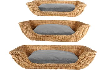 Arco Water Hyacinth Pet Bed Reactangle Set of 3