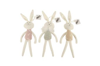 Plush Bunny Toy 3 Assorted Colours