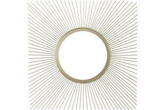 Mela Square Gold Mirror 50.5x50.5x1.5cm