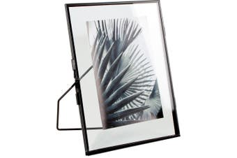 Matte Black Glass Picture Frame 15x1.2x20cm