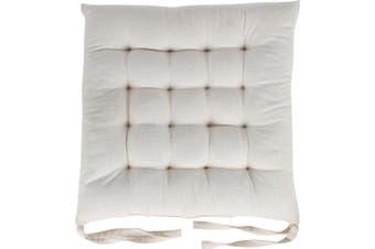 Skala Cotton Chair Pad Ecru