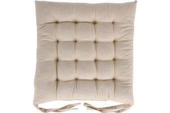 Skala Cotton Chair Pad Beige